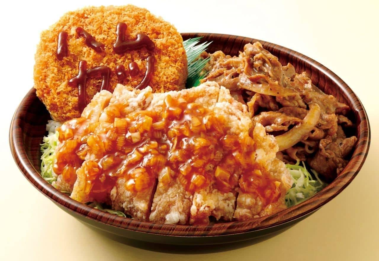 オリジン弁当に10月の「肉トリプル丼」