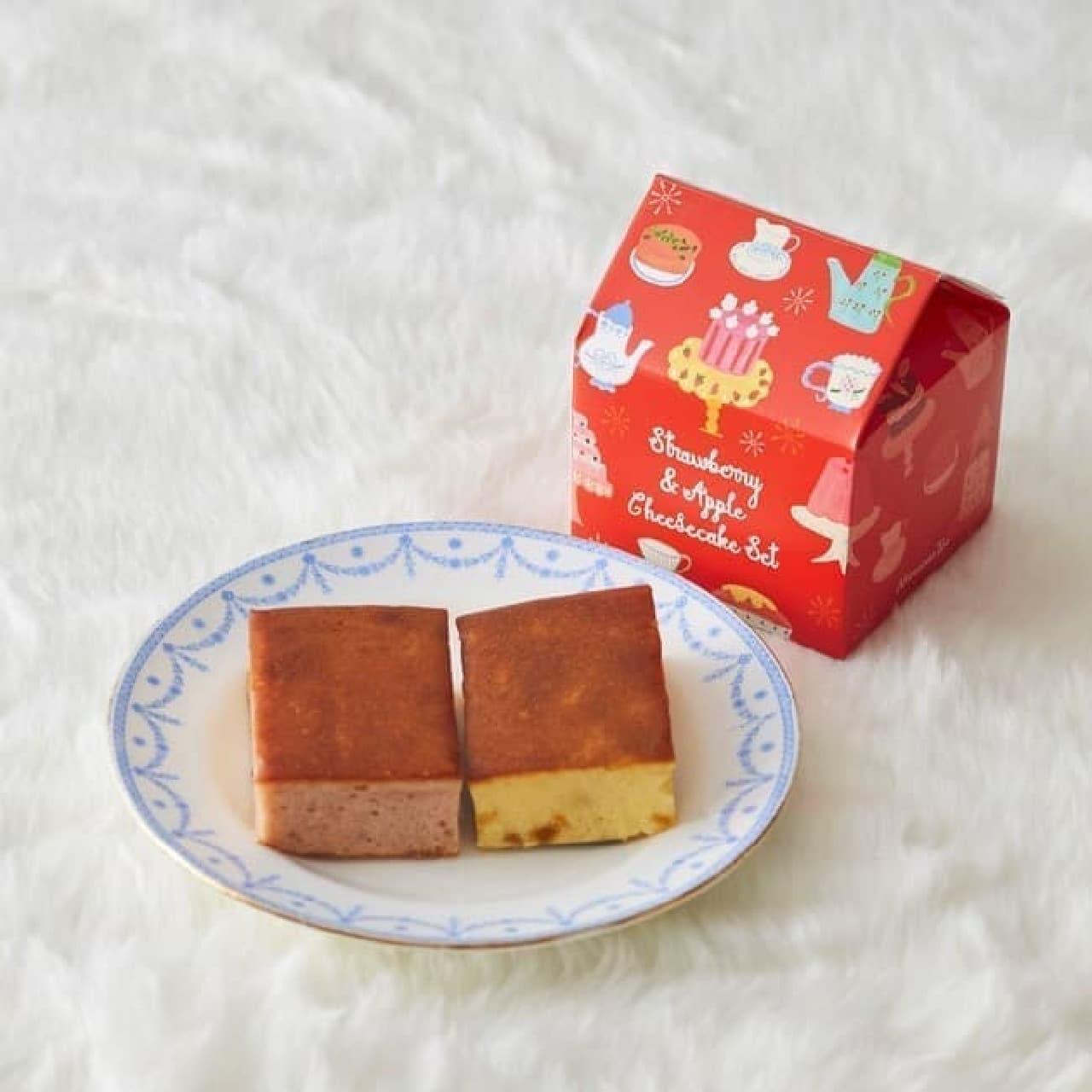 アフタヌーンティー・ティールーム「苺&アップルチーズケーキセット」