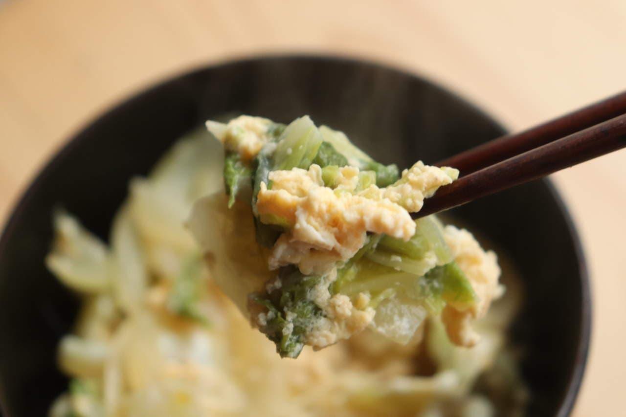 白菜の卵とじレシピ