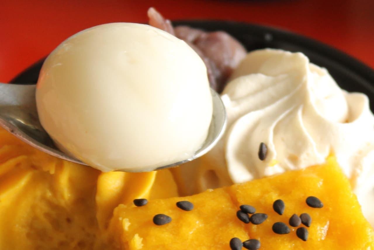 ファミマ「安納芋の和パフェ」「安納芋のシュークリーム」