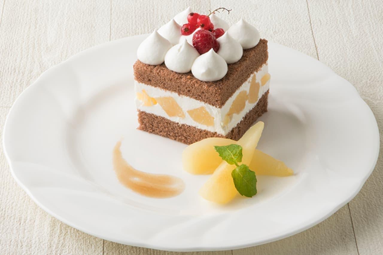 タカノフルーツバーに「洋梨のショートケーキ」
