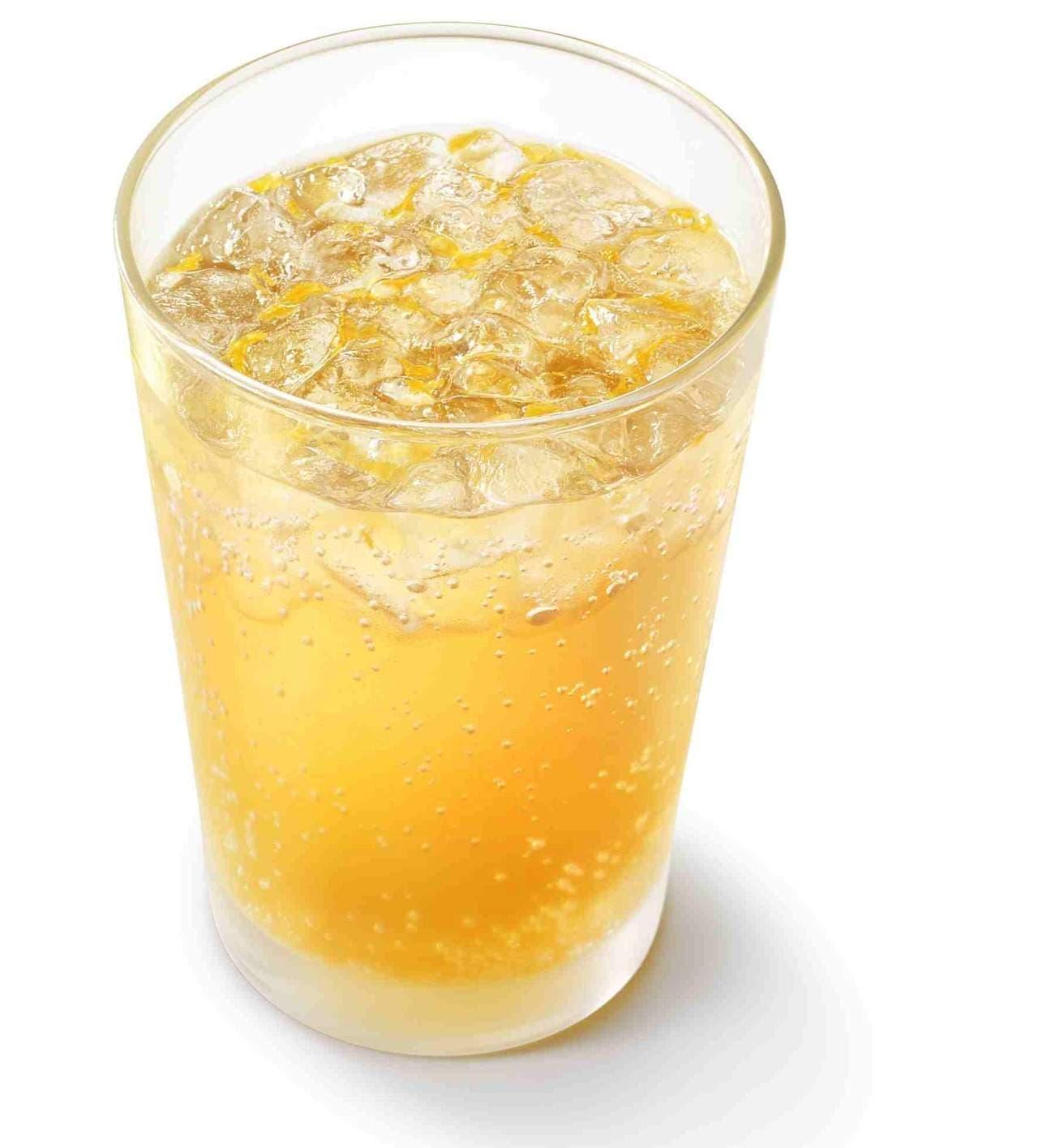 モスバーガー「瀬戸内産ネーブル&レモン ジンジャーエール(ネーブル果汁0.4%、レモン果汁0.2%使用)」