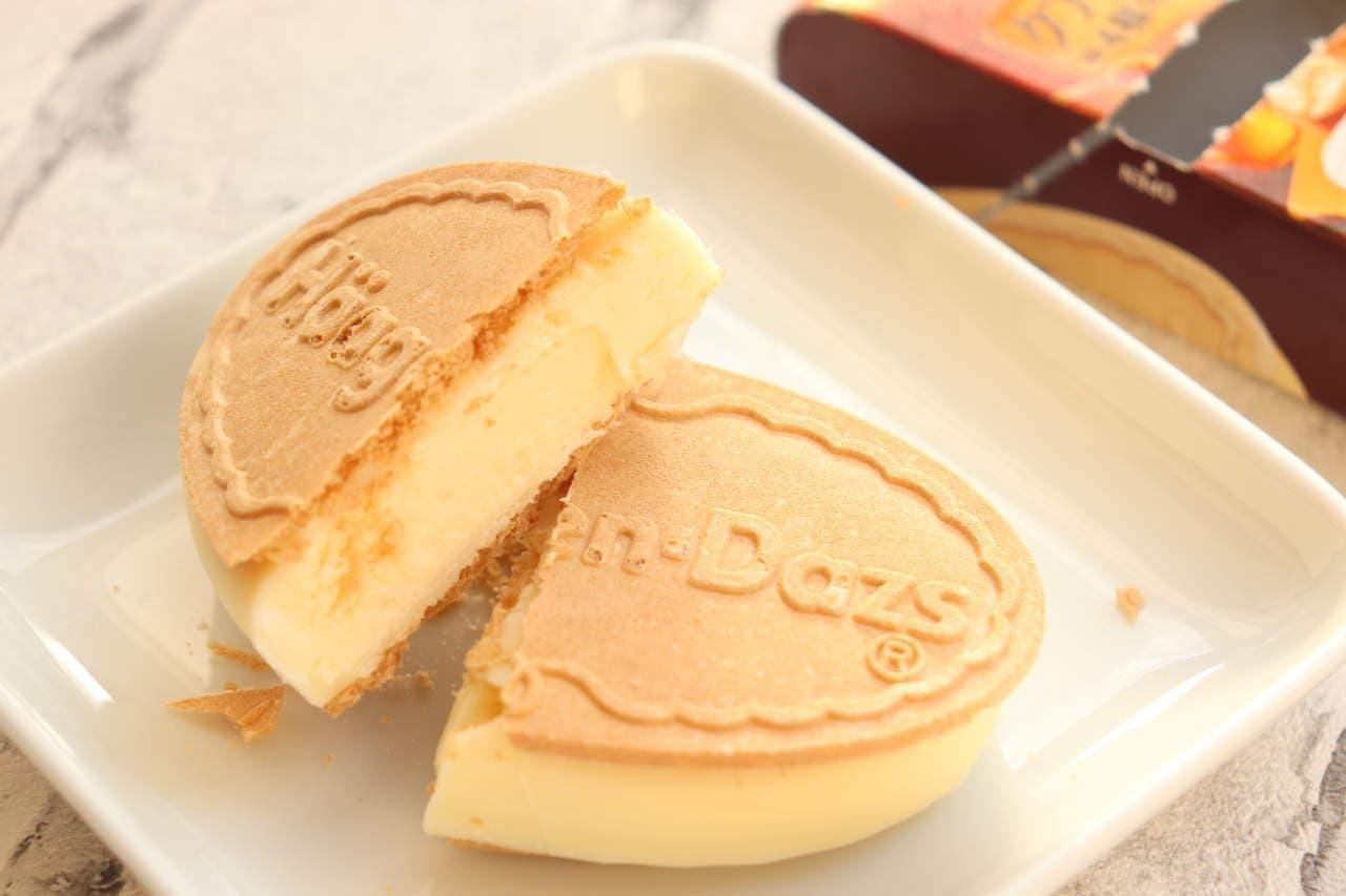 ハーゲンダッツ クリスピーサンド「クアトロフォルマッジ~4種のチーズとはちみつ~」