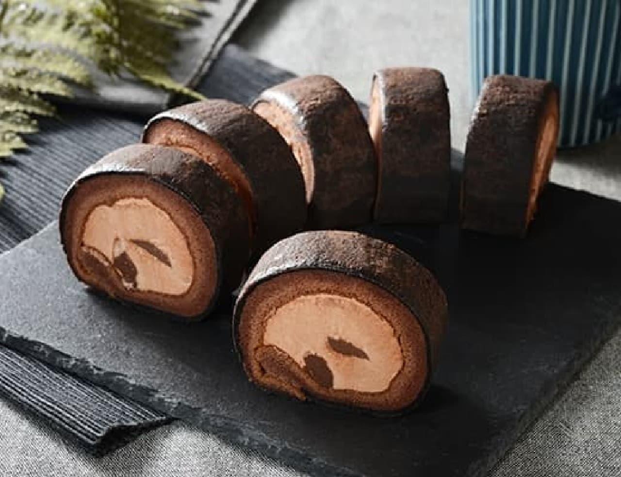 ローソン「お餅で巻いたもち食感ロール ショコラ」
