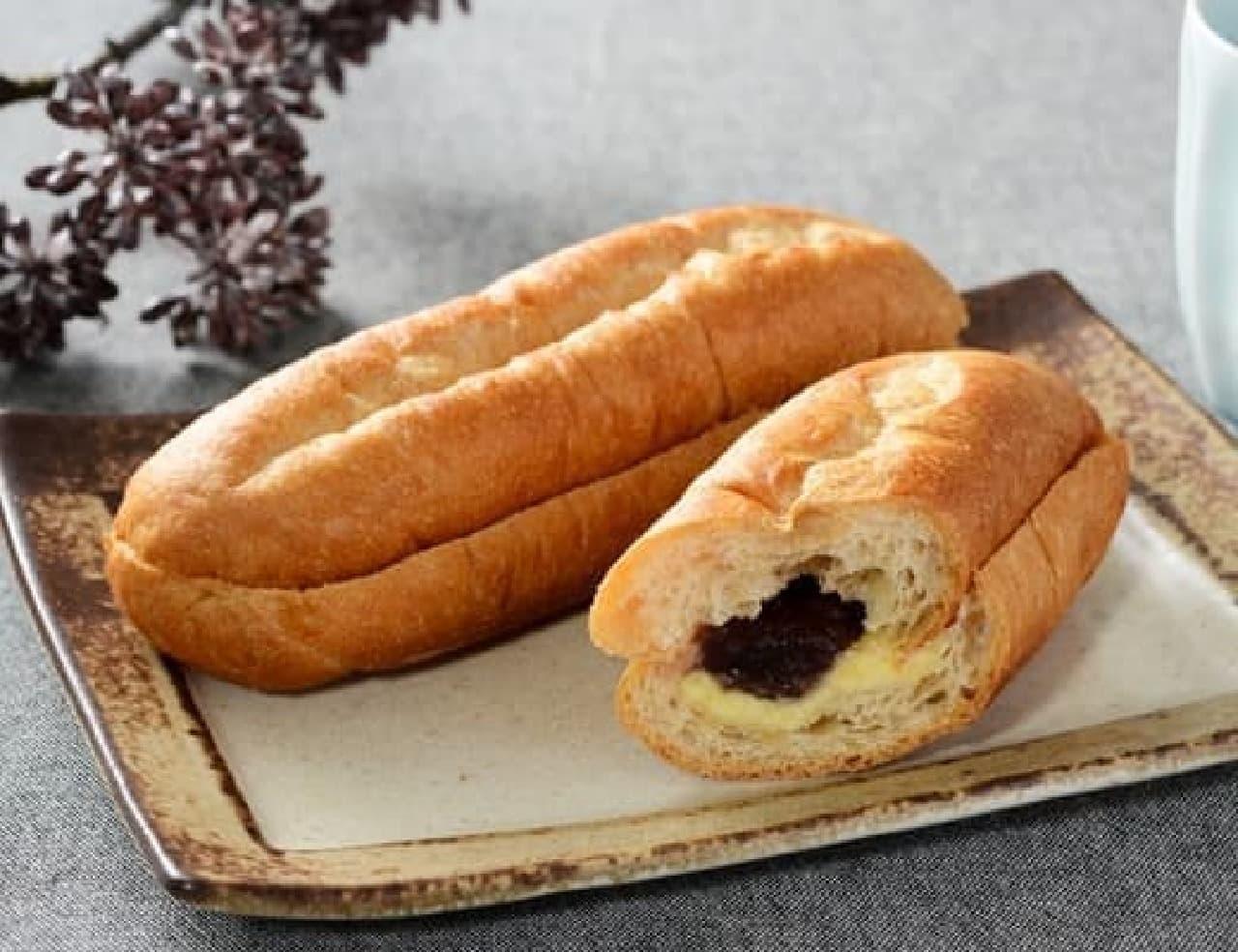 ローソン「NL もち麦のあんバターブレッド」