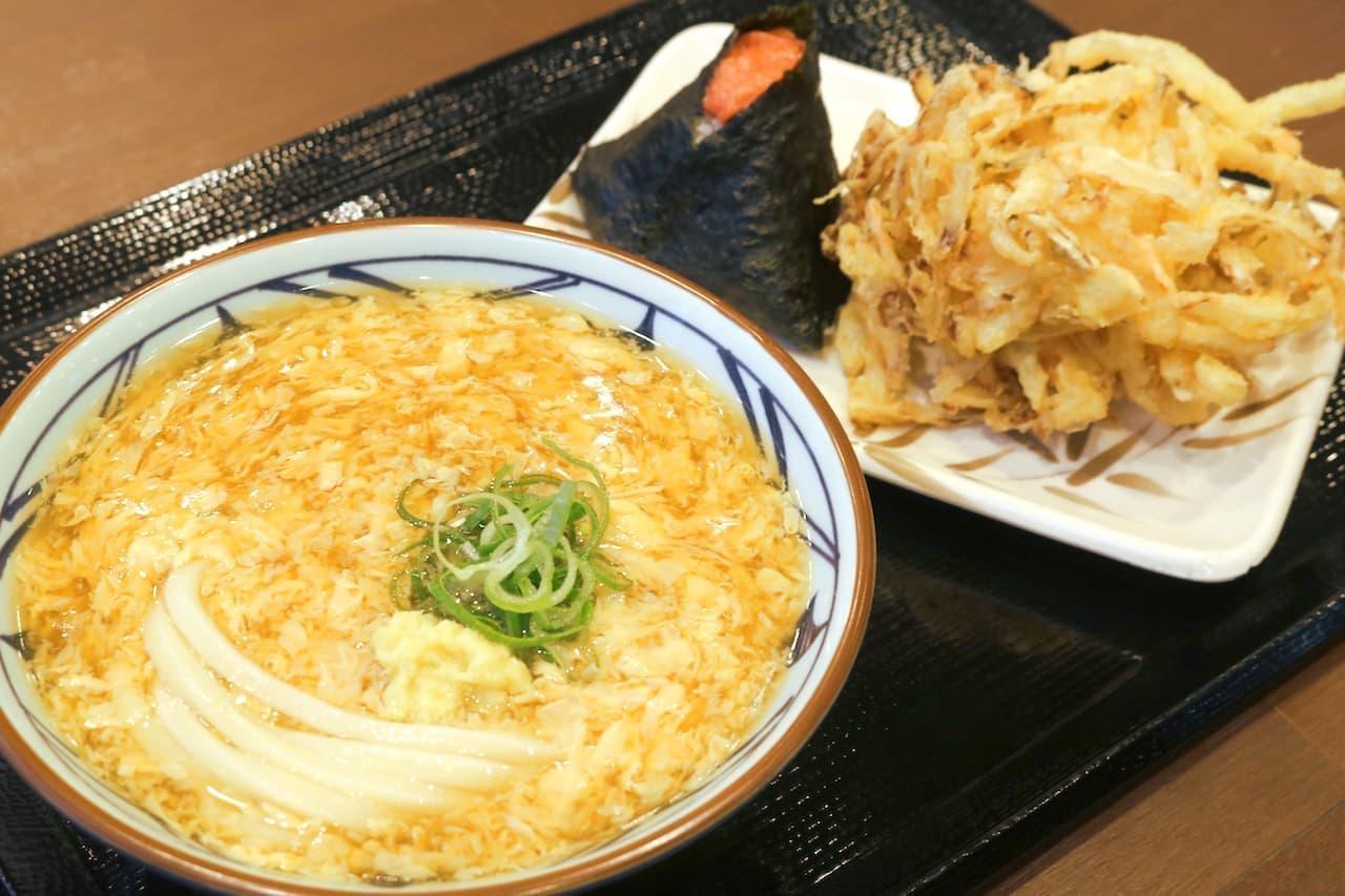 丸亀製麺の「丸亀ランチセット」の玉子あんかけうどんセット