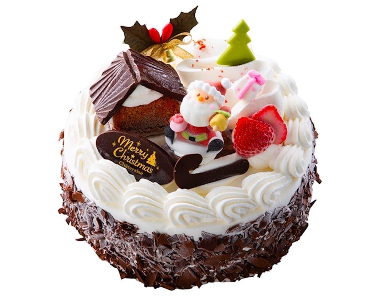 シャトレーゼ「Xmasアイスデコレーション パリパリチョコバニラ&チョコクッキー 」