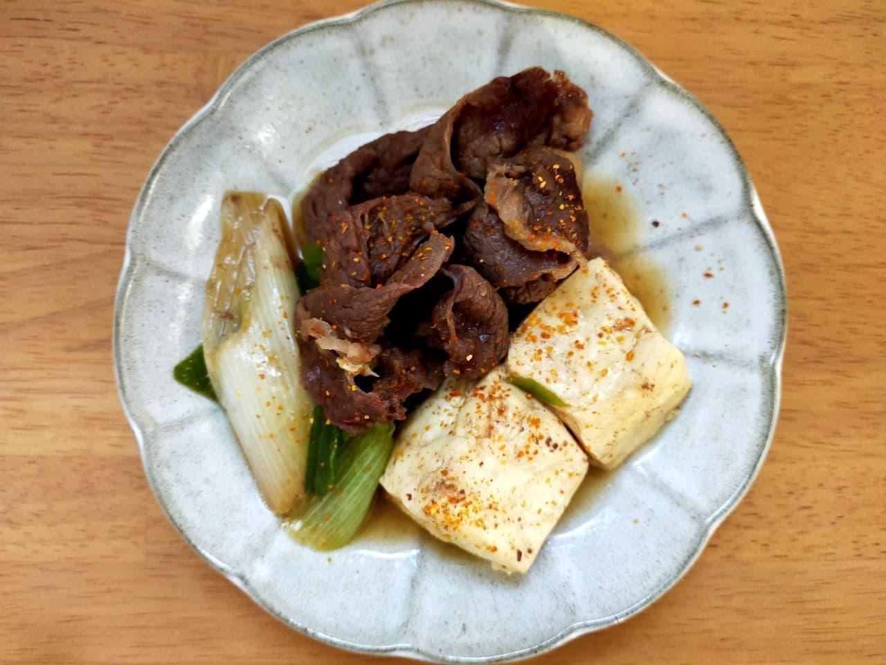 レンジで肉豆腐の簡単レシピ
