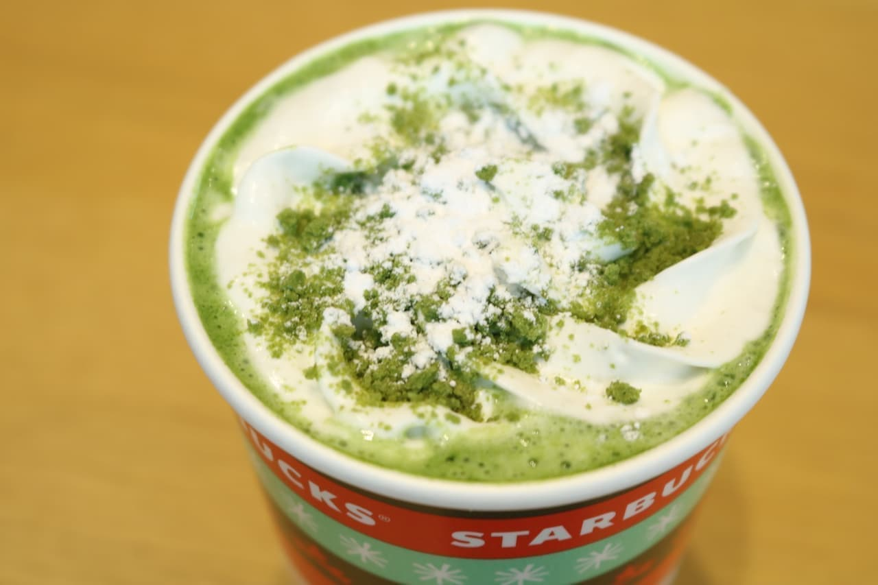 スタバ「「抹茶×抹茶 ホワイト チョコレート」」