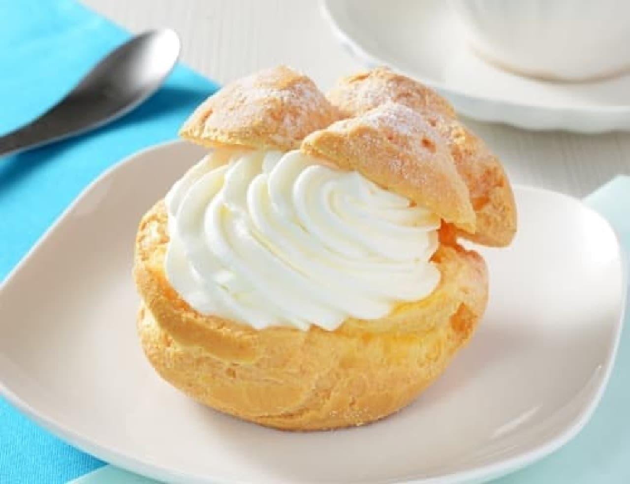 ローソン「Uchi Cafe×生クリーム専門店Milk MILKシュークリーム」