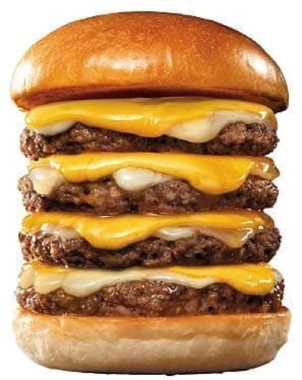 ロッテリア「4-dan 絶品チーズバーガー」