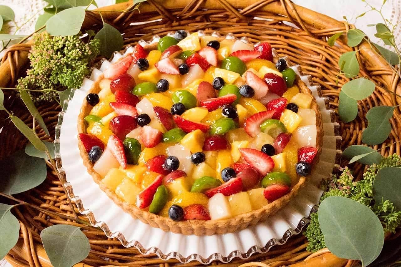 キル フェ ボン「8種のフルーツとホワイトチョコクリームのタルト」