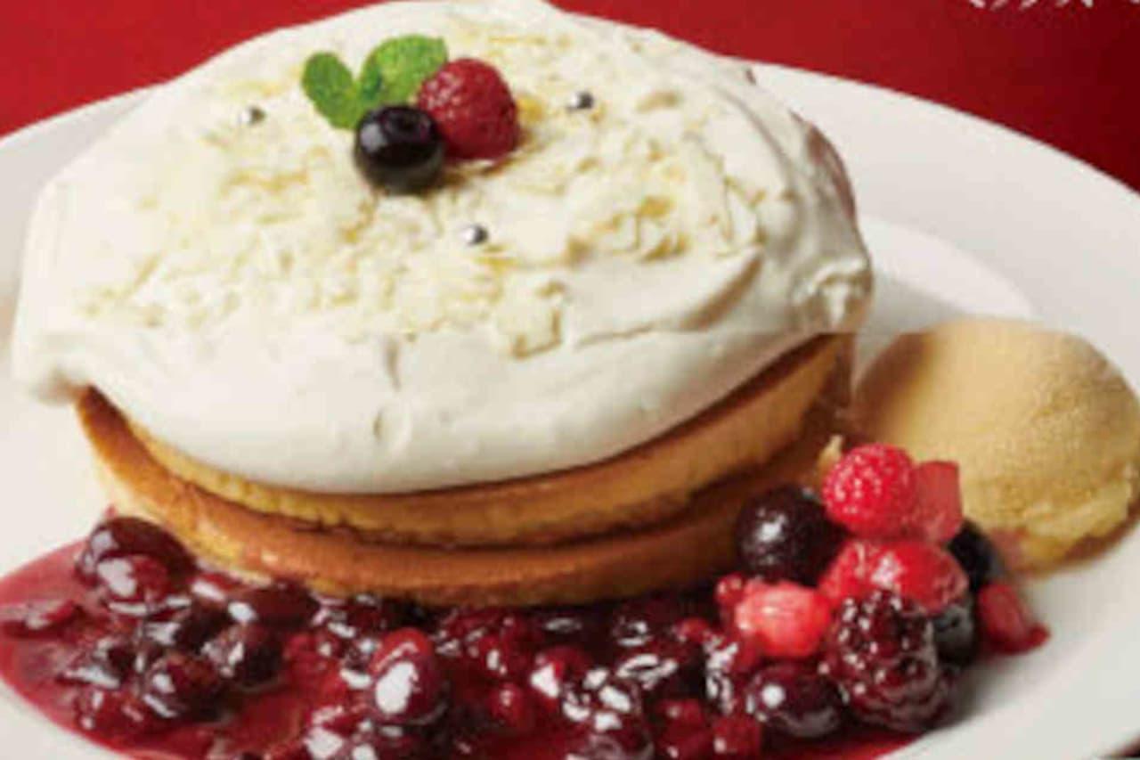 珈琲館「ミックスベリー&チーズ ホットケーキ」