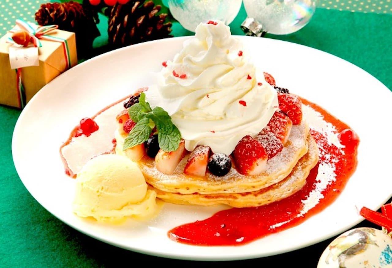 冬限定「クリスマスパンケーキ」クア・アイナから