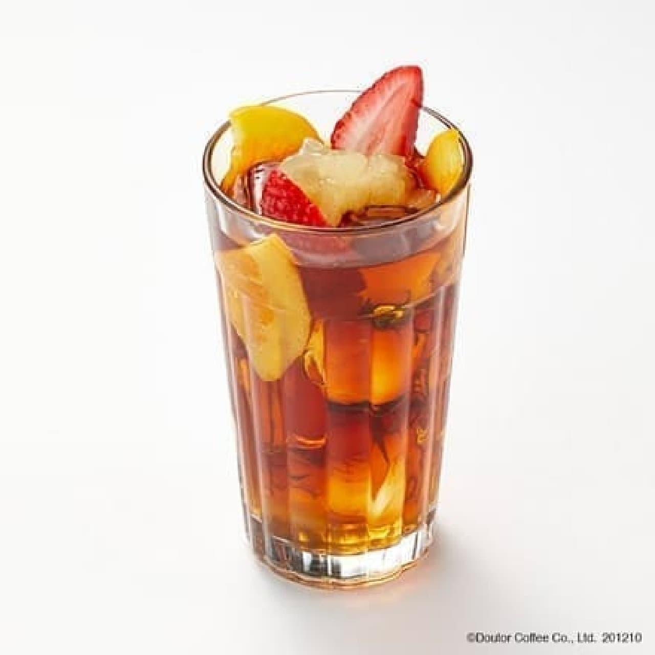 エクセルシオール カフェ「フルーツティー ふじりんごソース」