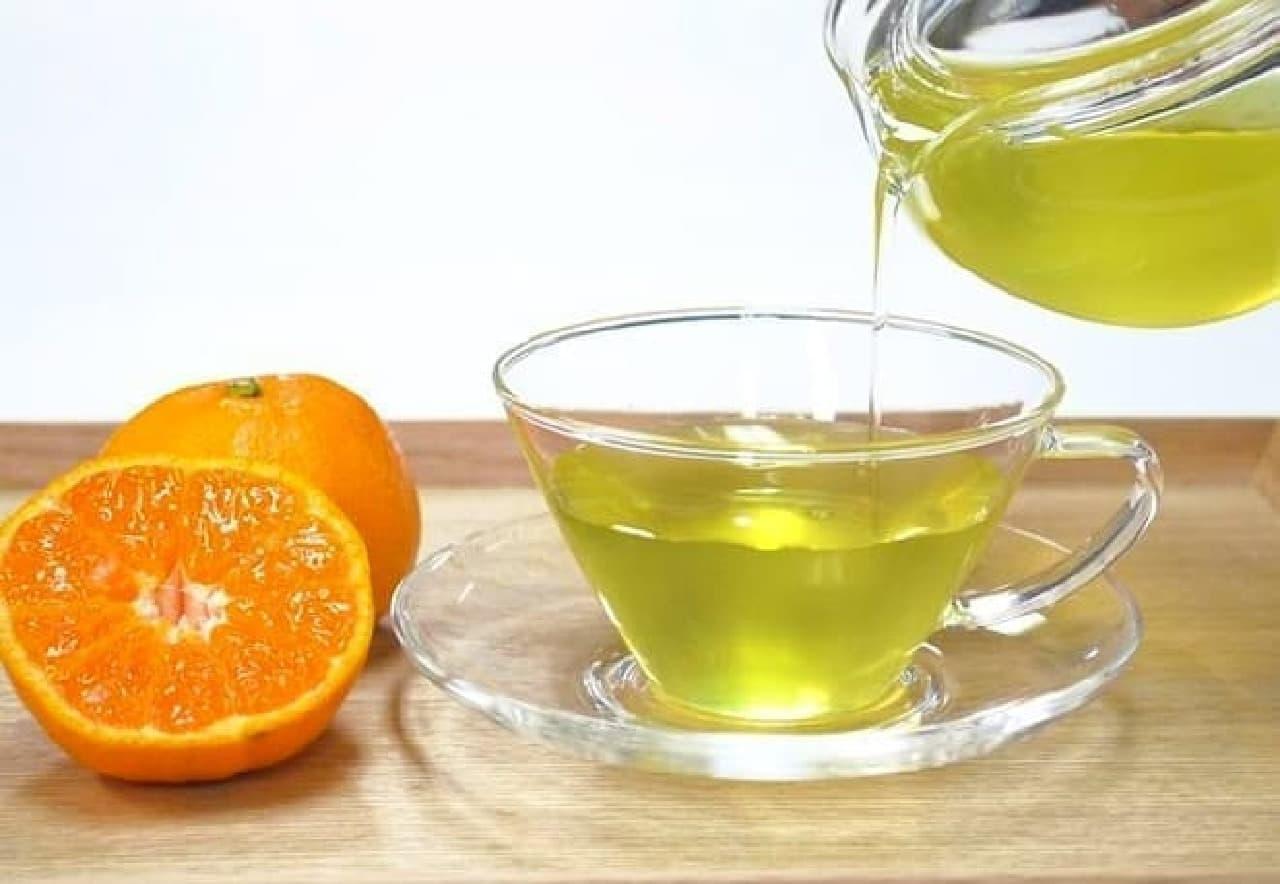 福寿園「みかん緑茶 ティーパック」