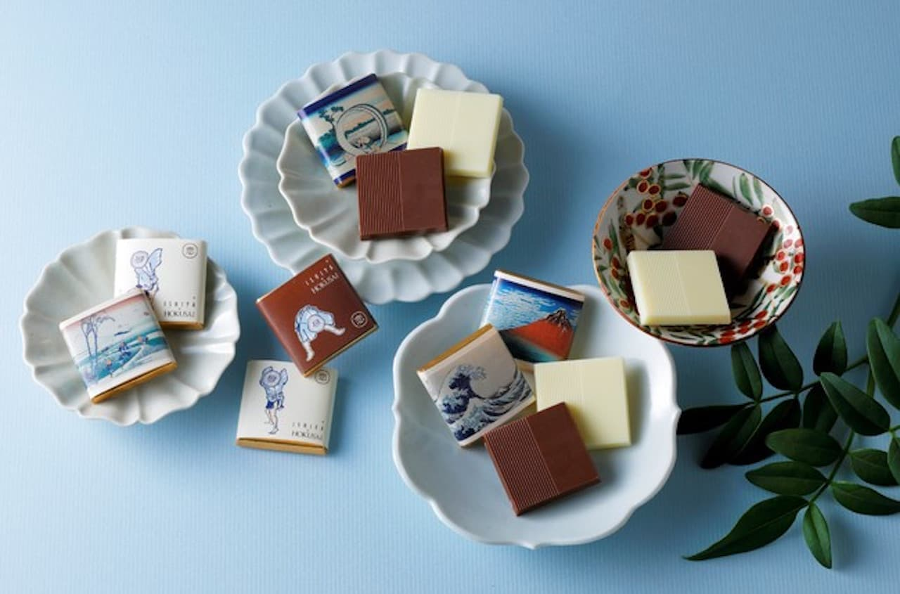 浮世絵師・葛飾北斎とISHIYAの「恋するチョコレート」が初コラボ