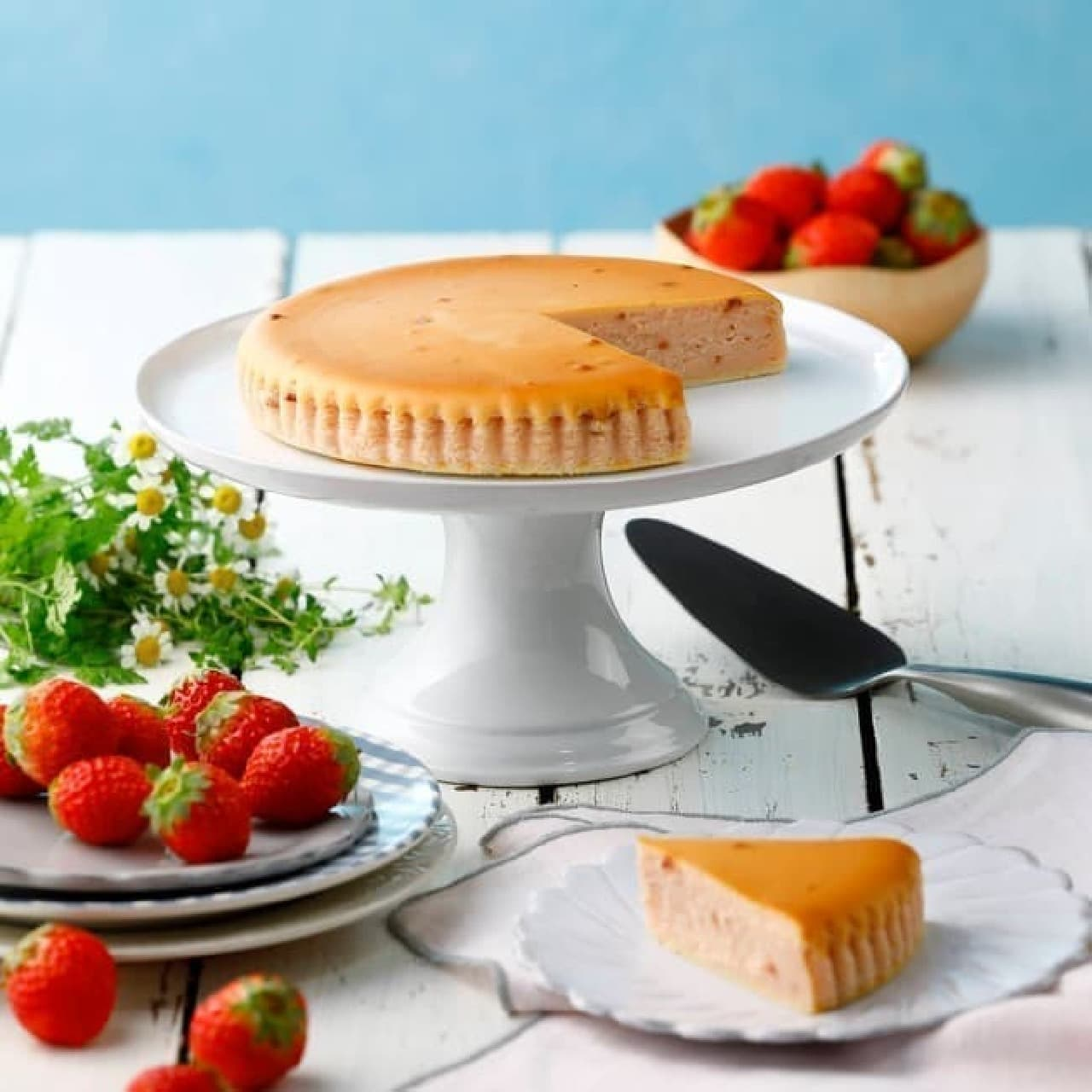 チーズガーデン「御用邸ストロベリーチーズケーキ」