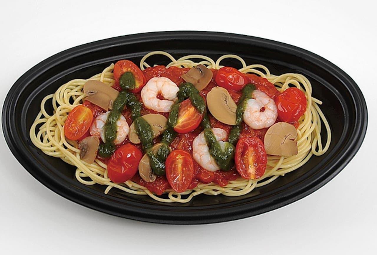 ミニストップ「トップバリュ 海老とトマトのポモドーロパスタ」