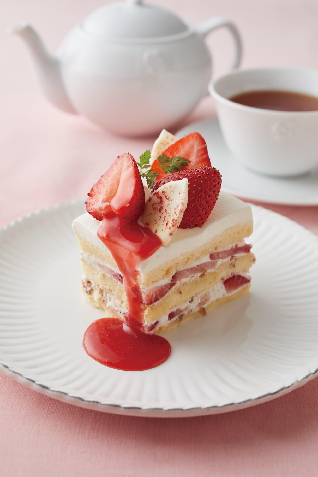 アフタヌーンティー・ティールーム「苺とプラリネクリームのショートケーキ」