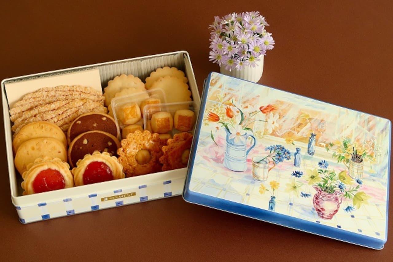 銀座ウエストのお菓子が家に届く「ウエスト通販限定缶」