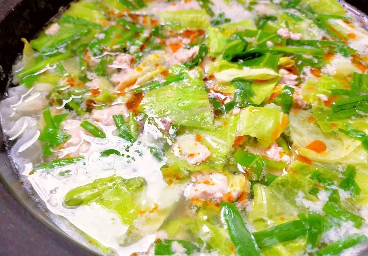 餃子風スープ鍋のレシピ