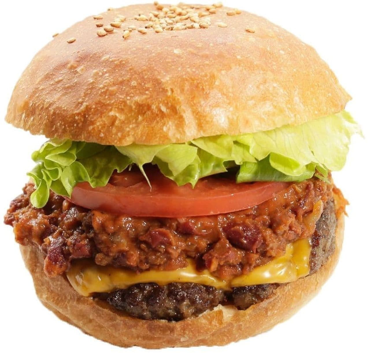 Ju the burger(ジューザバーガー)「チリチーズバーガー」