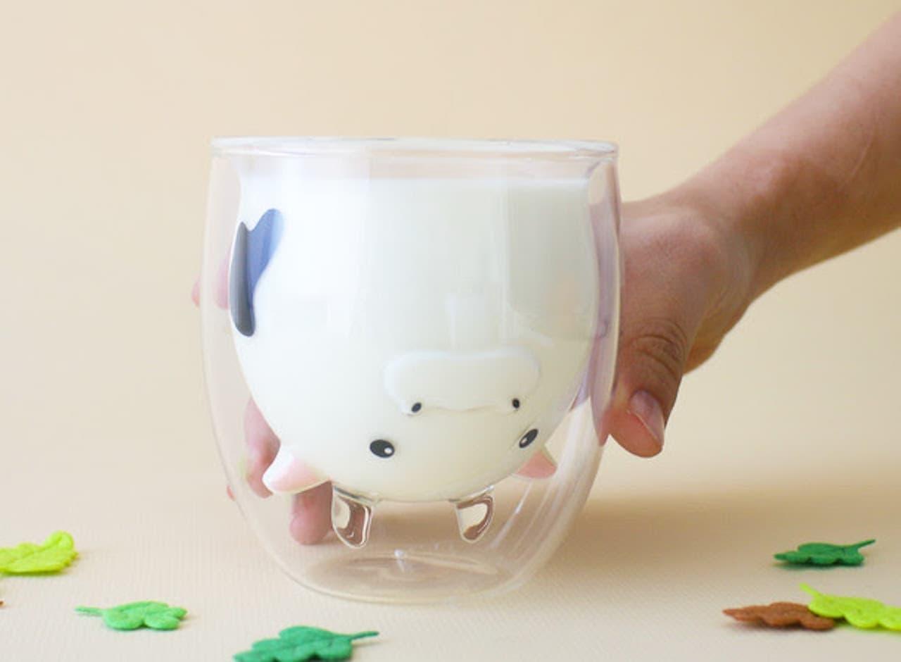 グッドグラスから干支「うし」をモチーフにしたダブルウォールグラス