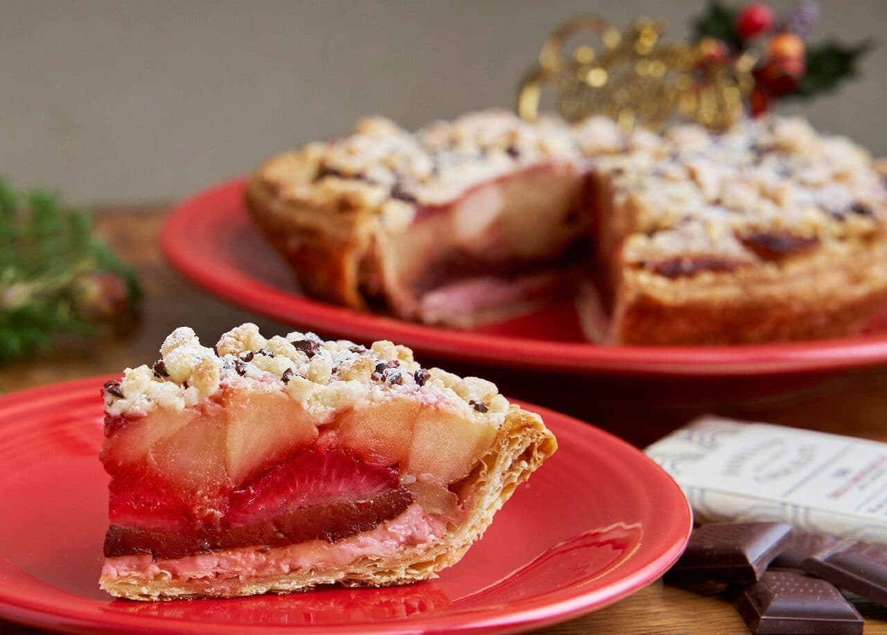 グラニースミスとダンデライオンが限定コラボ「チョコレートと苺のクリスマスアップルパイ」