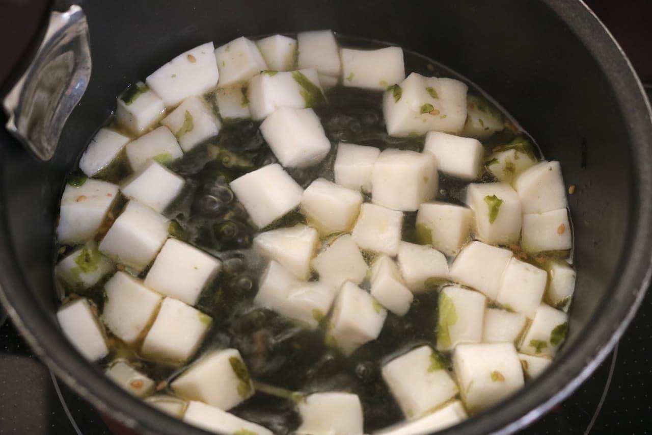 レシピ「はんぺんと海苔スープ」