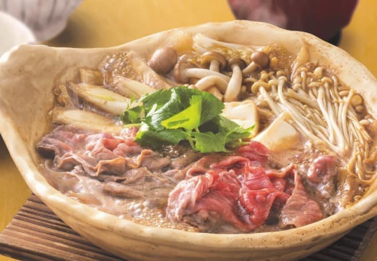 黒毛和牛のすき鍋定食