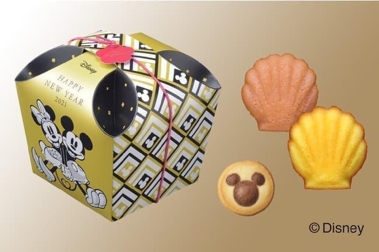 銀座コージーコーナー「<ディズニー>新春マドレーヌ&クッキー(6個入)」