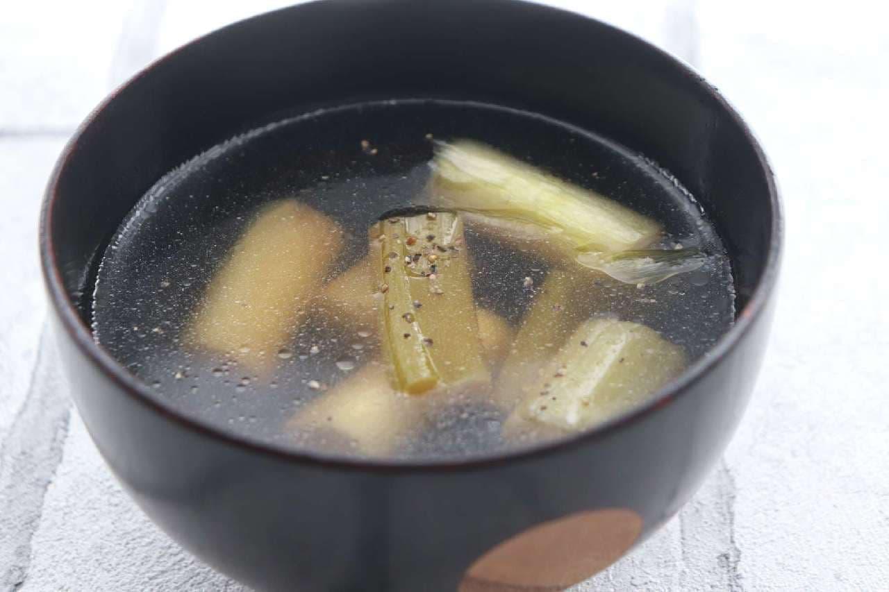 長ねぎコンソメスープ