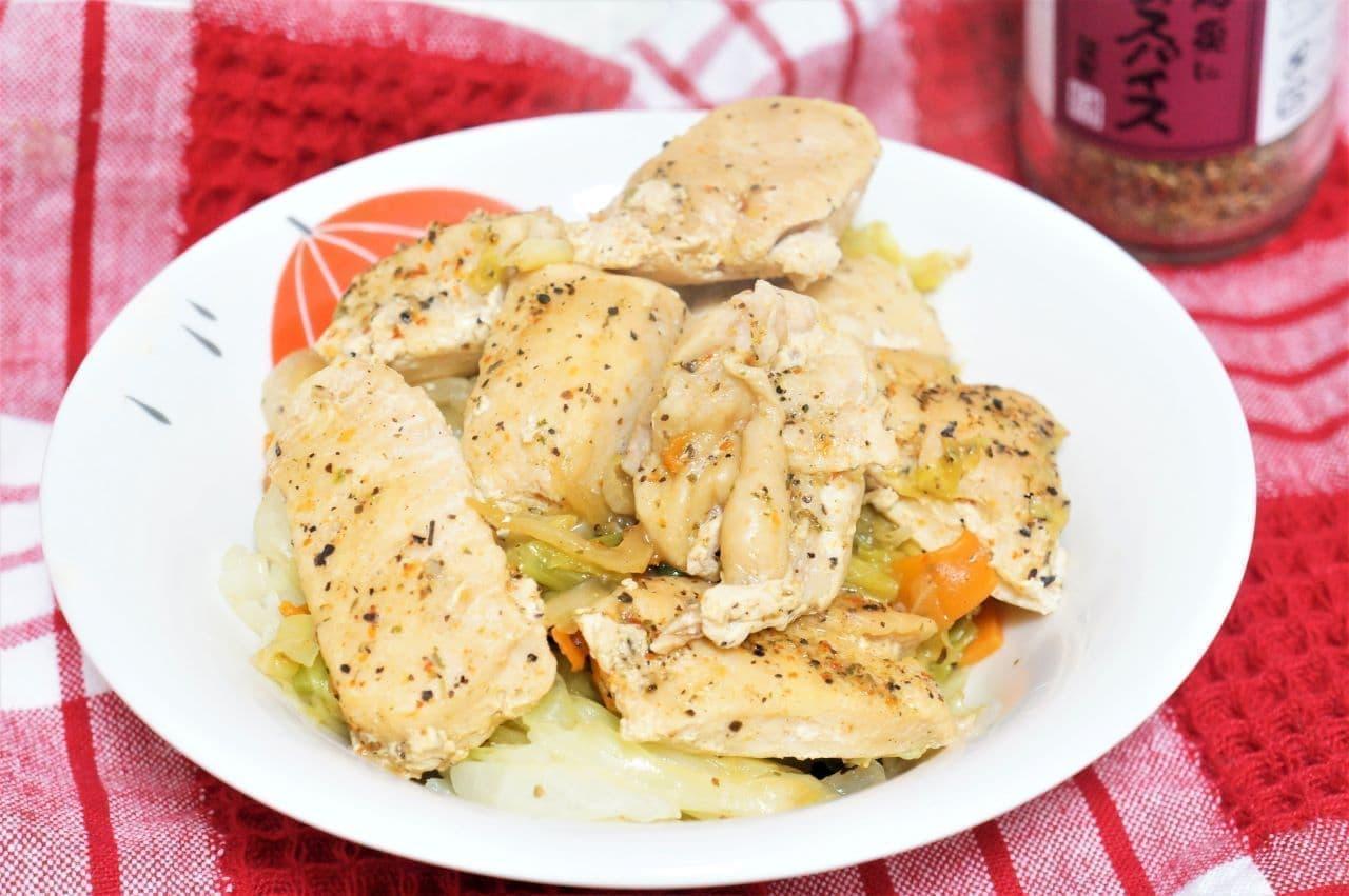 かしわ屋くろせ「黒瀬のスパイス」を使った鶏肉炒め