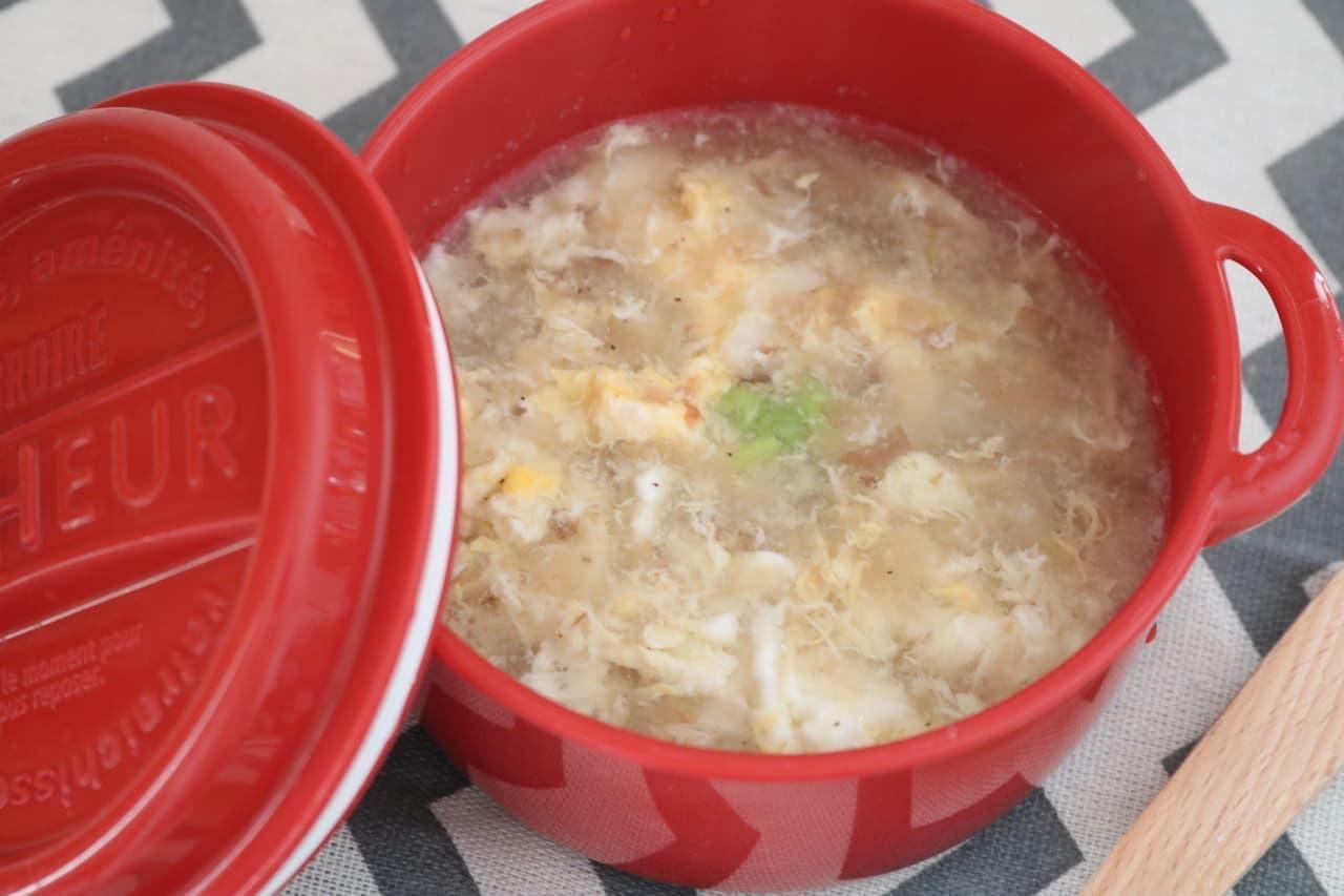 レシピ「ニンニクたっぷりスープ」