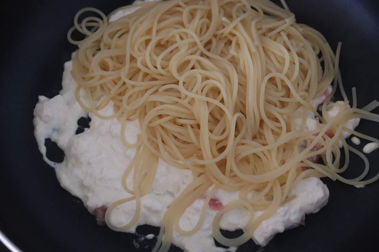 豆腐カルボナーラ
