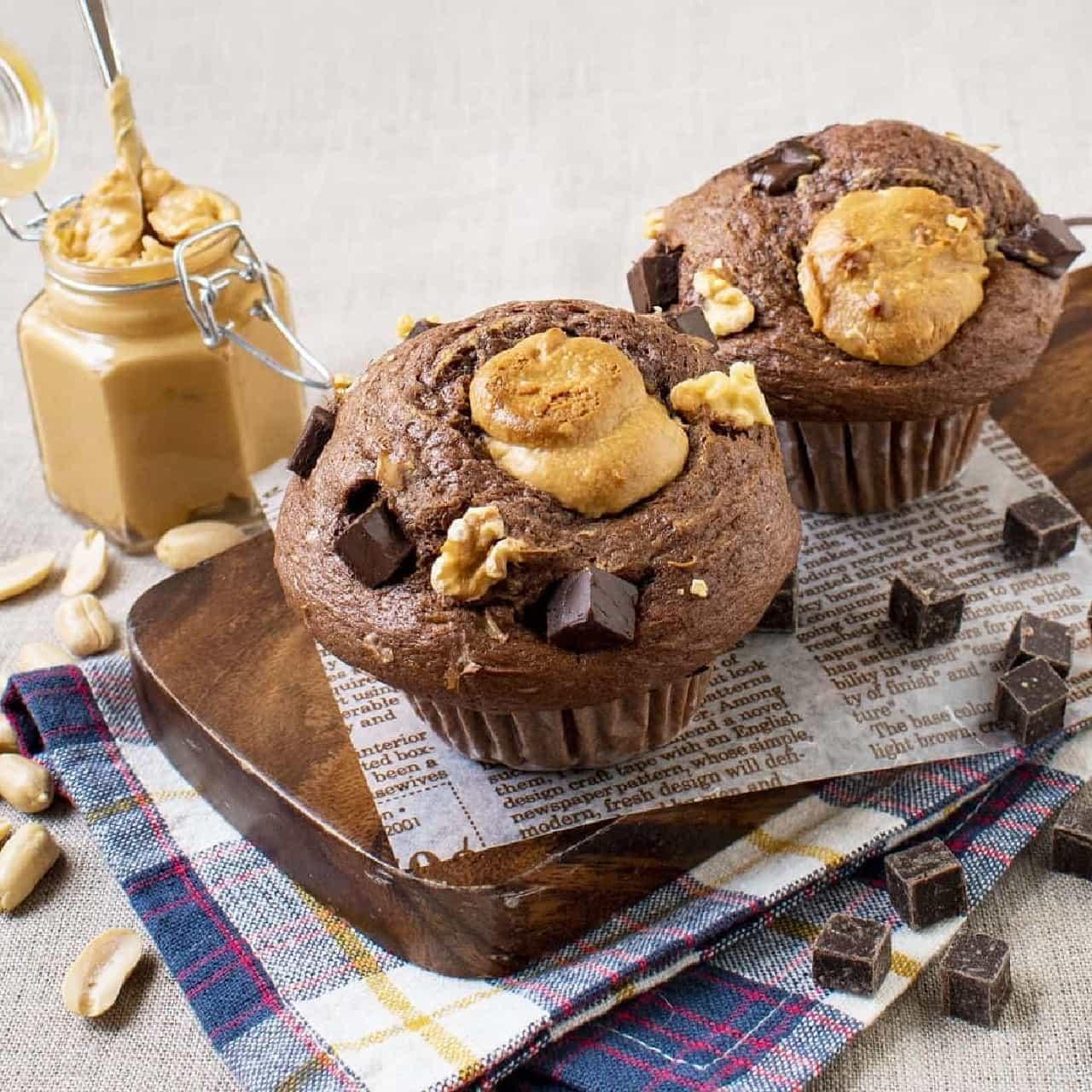 ベーグル&ベーグル「ピーナッツバター&チャンクチョコレートマフィン」