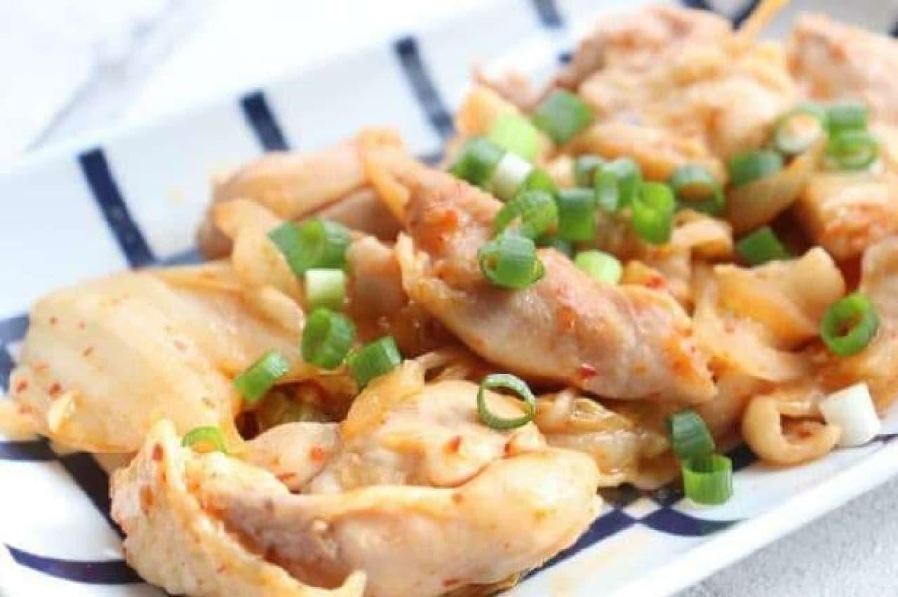 鶏肉とキムチ炒め