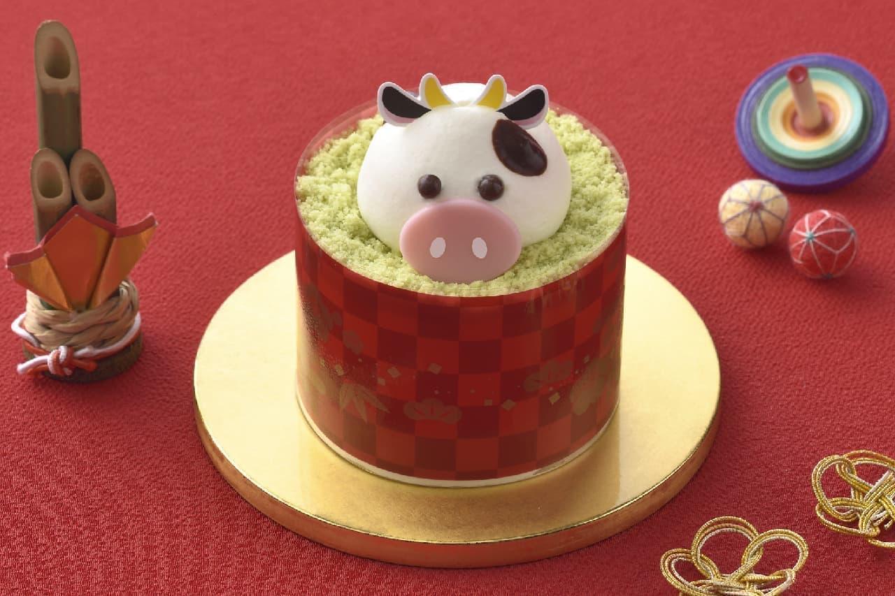 銀座コージーコーナー「干支のケーキ(丑)」
