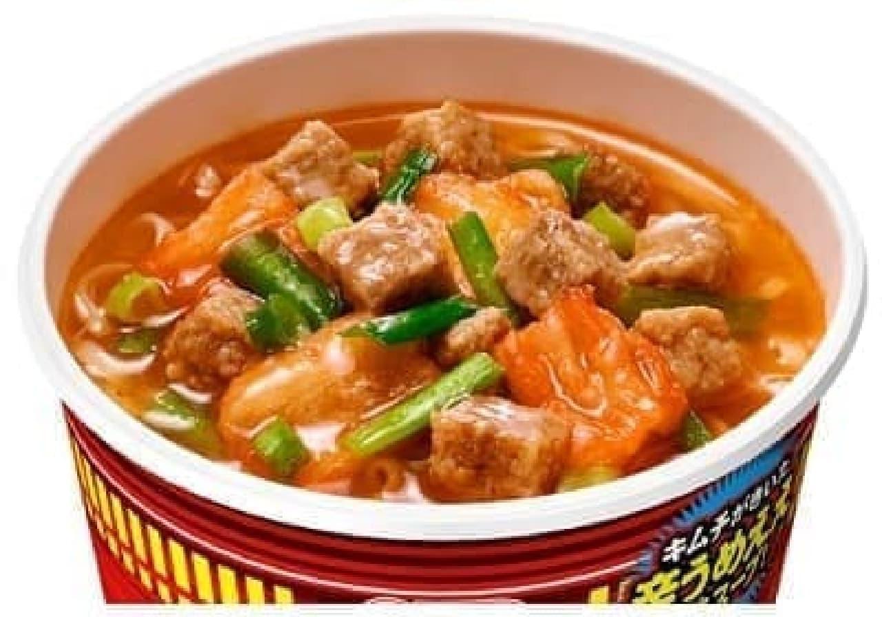 日清食品「カップヌードル 謎肉キムチ」