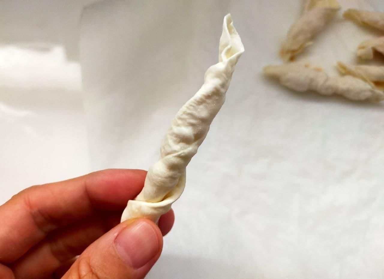 「餃子の皮かりんとう」簡単レシピ