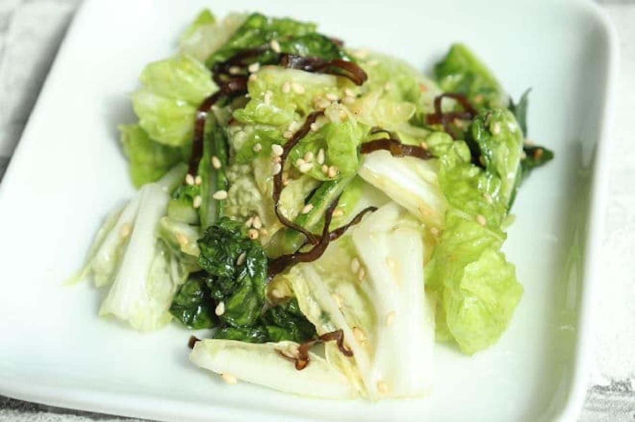 レシピ「白菜の塩昆布和え」