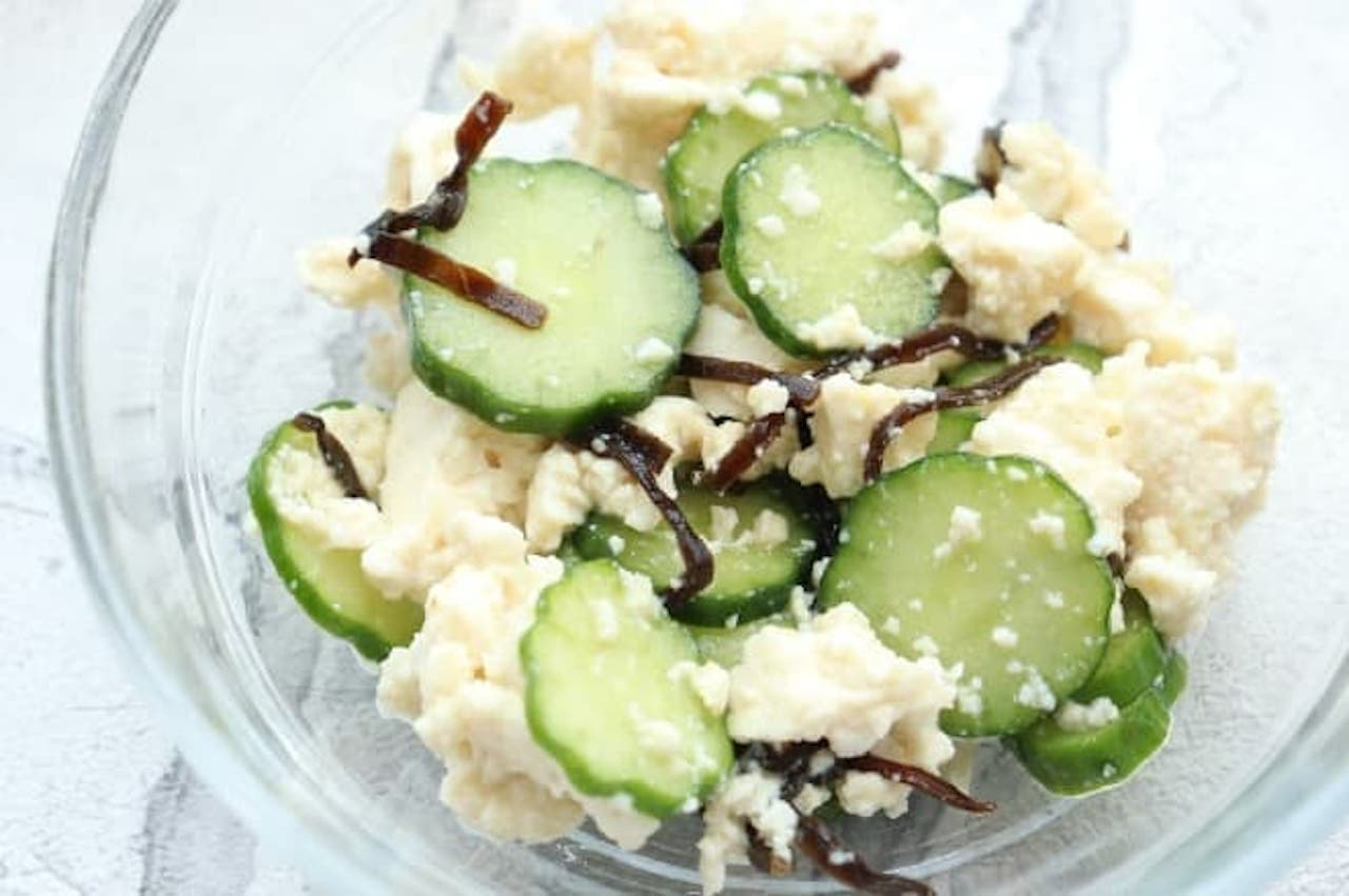 レシピ「きゅうりと豆腐の塩昆布和え」