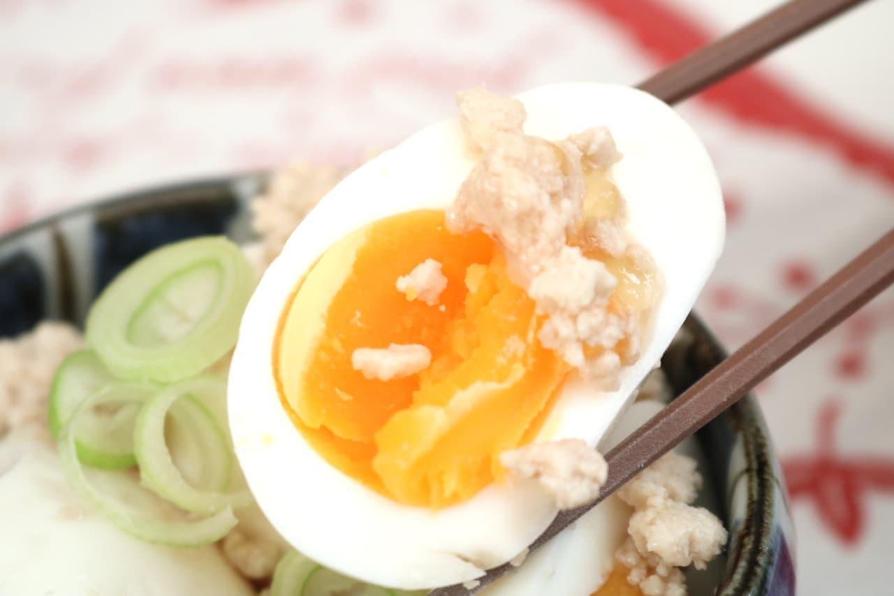「鶏そぼろ煮卵」のレシピ