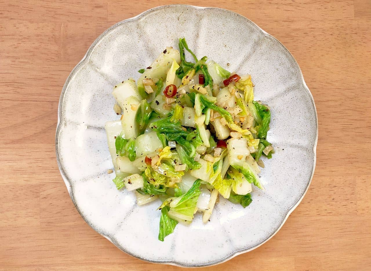白菜のペペロンチーノ風レシピ