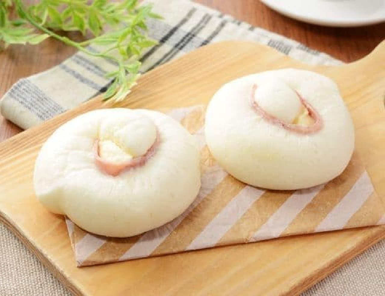 ローソン「NL 糖質オフのふっくらパン チーズとハム 2個入」