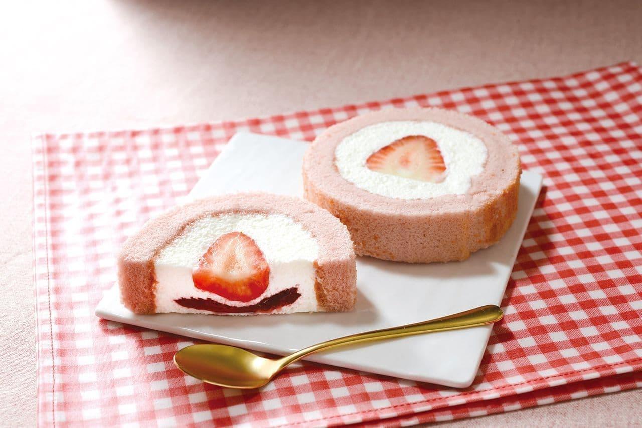 ローソン「苺みるくロールケーキ」