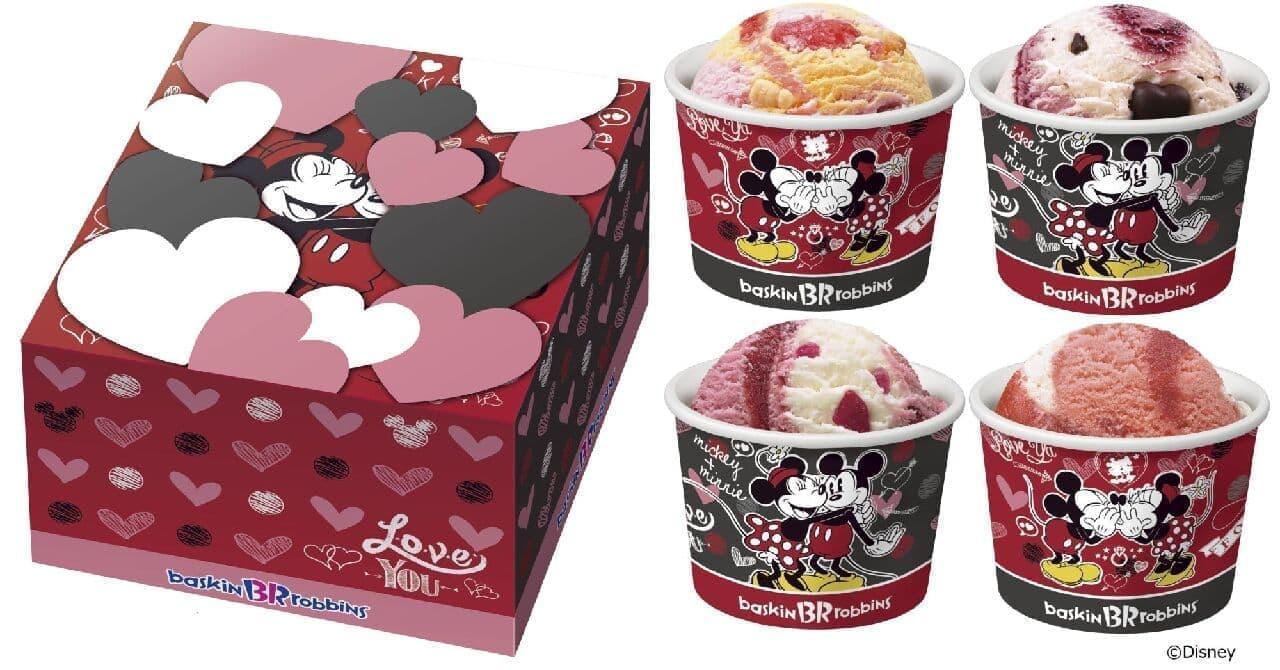 サーティワン アイスクリーム「ミッキー&ミニー ハートボックス」