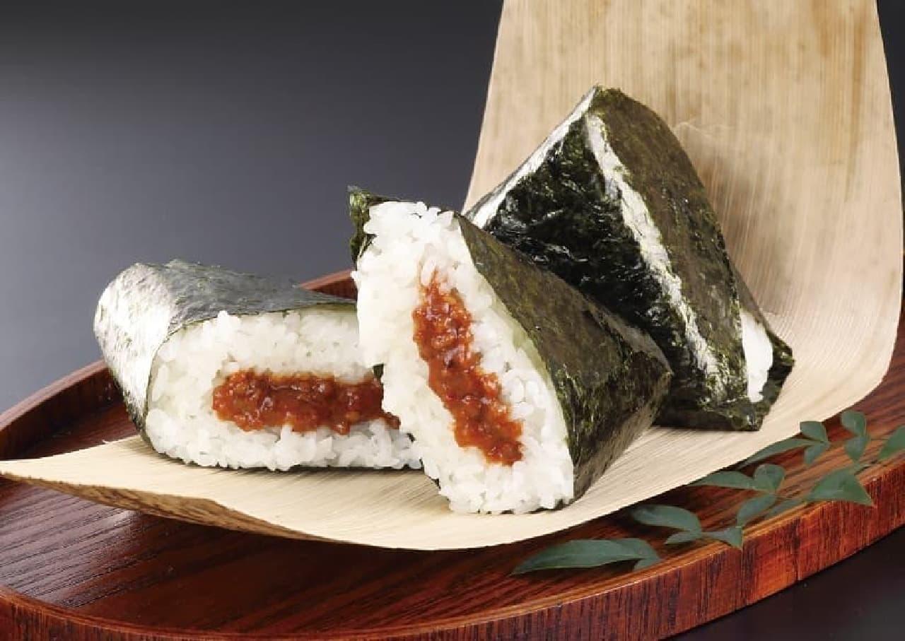 ローソン 牛タン焼専門店「司」監修「手巻おにぎりピリ辛肉味噌」