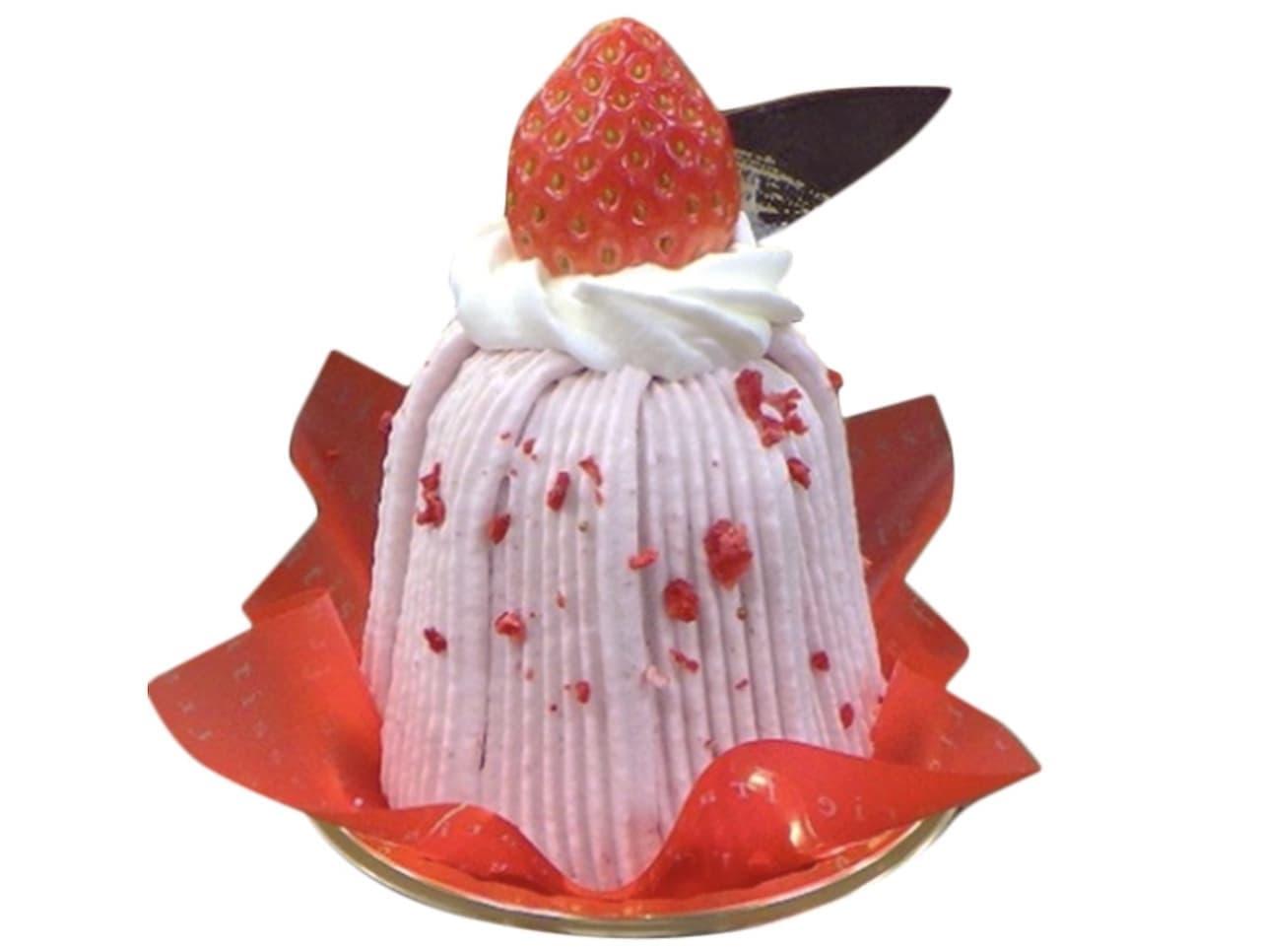 シャトレーゼ「濃い苺のモンブラン」